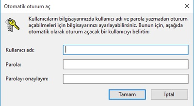 Windows 10 Giriş Parolasını Kaldırma-3