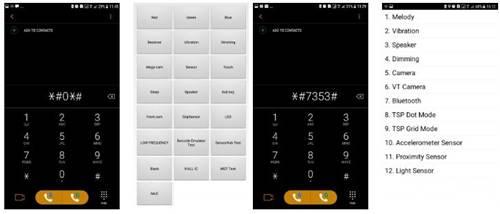 Samsung Galaxy J7 Prime İçin Gizli Kodlar, Şifreler, Servis Menu