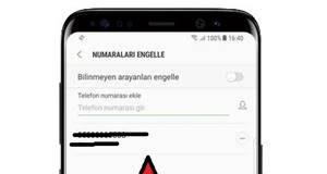 Samsung Telefonlarda Numara Engelleme Nasıl Yapılır