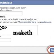 Facebook Hesabını Silme 5