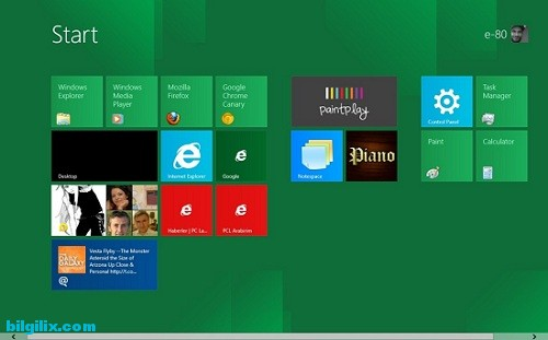 Windows 8, metro, bilgisayar